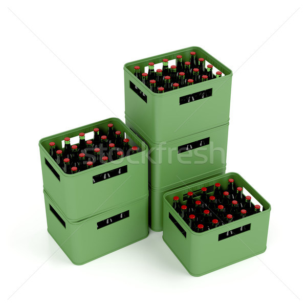 Crates with lager beer Stock photo © magraphics