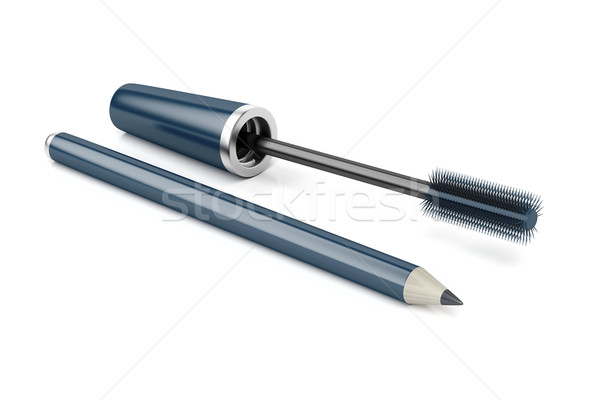 Mascara and eye pencil Stock photo © magraphics