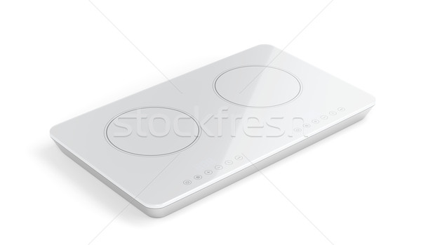 White ceramic cooktop Stock photo © magraphics
