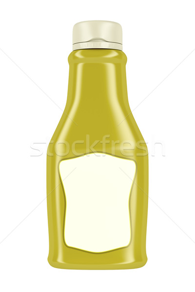 şişe hardal mayonez yalıtılmış beyaz plastik Stok fotoğraf © magraphics