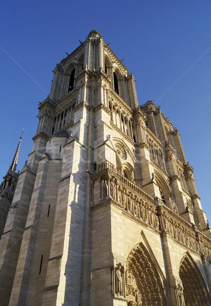 Catedral de Notre Dame Paris França edifício europa religião Foto stock © magraphics