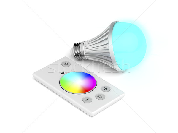 Remote control and LED bulb Stock photo © magraphics