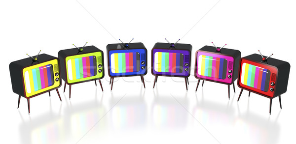 Colorful retro tv's Stock photo © magraphics