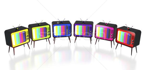 Colorato retro set monitor colore tubo Foto d'archivio © magraphics