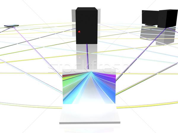 компьютер сеть круга бизнеса интернет технологий Сток-фото © magraphics