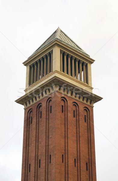Venetian turn pătrat Barcelona Spania arhitectură Imagine de stoc © magraphics