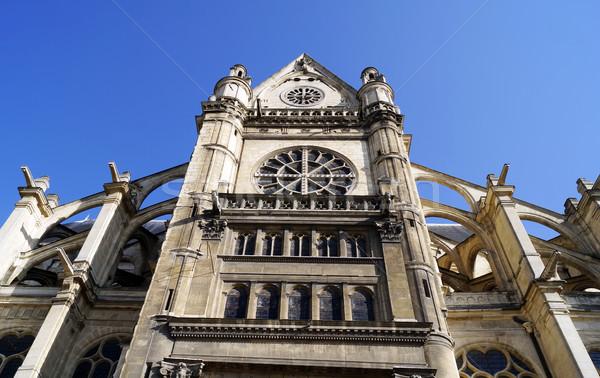 Photo stock: église · Paris · façade · France · bâtiment · gothique