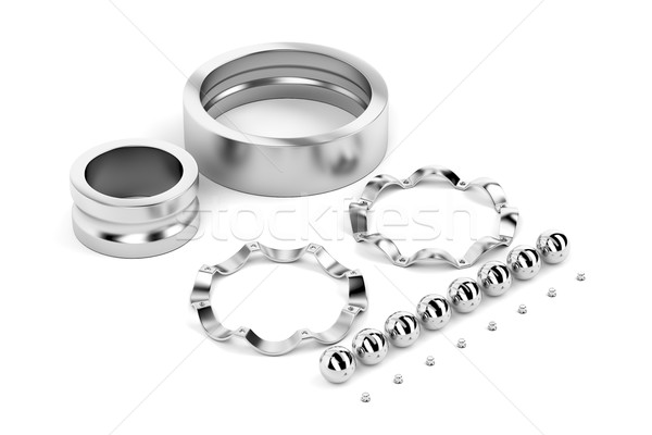 Disassembled ball bearing Stock photo © magraphics