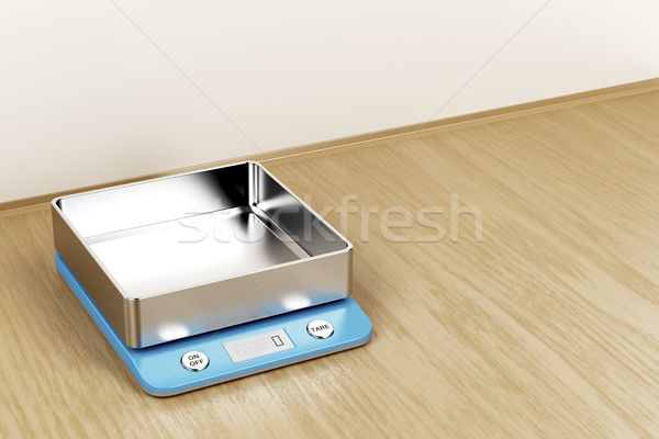 Kitchen weight scale Stock photo © magraphics