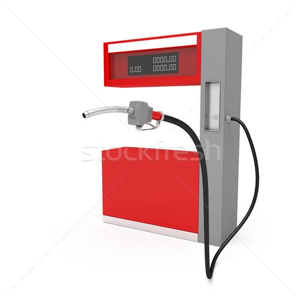 Benzinpumpa fehér 3D kép ipar benzin Stock fotó © magraphics