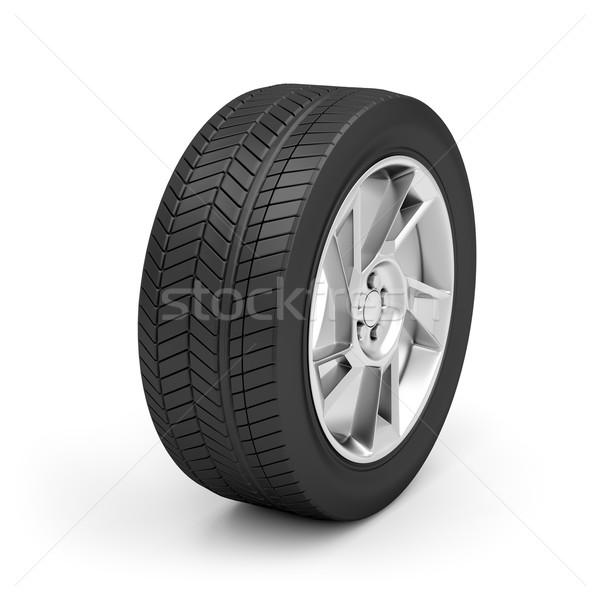 車 ホイール 白 自動 タイヤ 銀 ストックフォト © magraphics