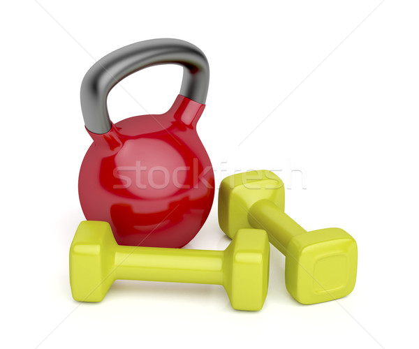 Kettlebell and dumbbells Stock photo © magraphics