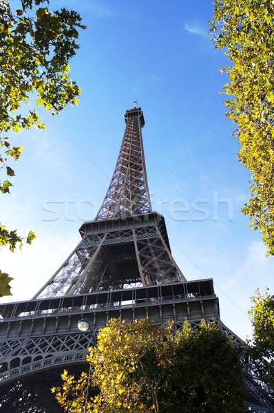 Tour Eiffel Paris France ciel bâtiment architecture Photo stock © magraphics