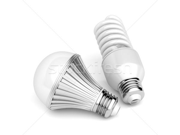 LED and CFL light bulbs Stock photo © magraphics