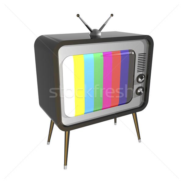 Retro TV Stock photo © magraphics