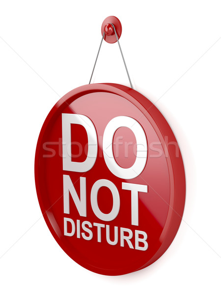 Do not disturb signboard Stock photo © magraphics