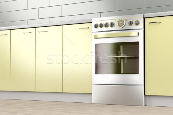Elektrik soba mutfak teknoloji oda pişirme Stok fotoğraf © magraphics