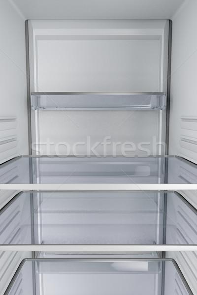 Inside of an empty fridge Stock photo © magraphics