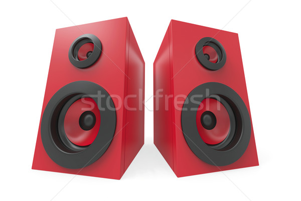 Stereo sprekers Rood witte technologie spreker Stockfoto © magraphics