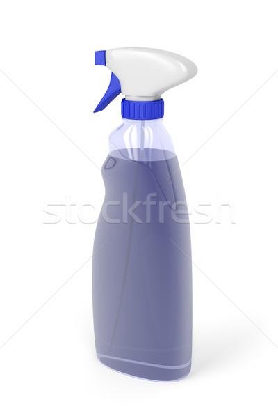 Limpador de janelas garrafa spray branco químico líquido Foto stock © magraphics