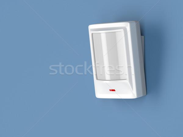 движения датчик детектор прилагается синий стены Сток-фото © magraphics
