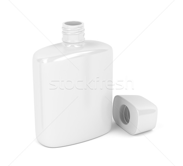 Aftershave lotion witte Open fles parfum Stockfoto © magraphics