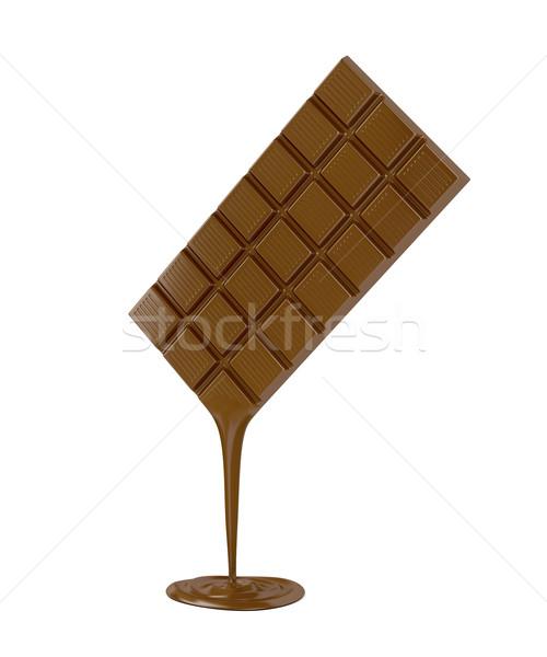 çikolata beyaz çikolata bar süt Stok fotoğraf © magraphics