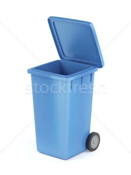 Plástico basura blanco residuos contenedor Foto stock © magraphics