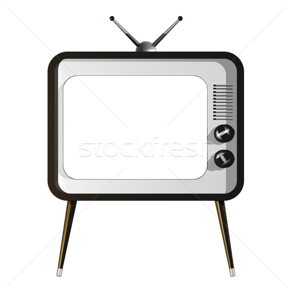 テレビ 空っぽ 画面 3次元の図 レトロな 黒 ストックフォト © magraphics