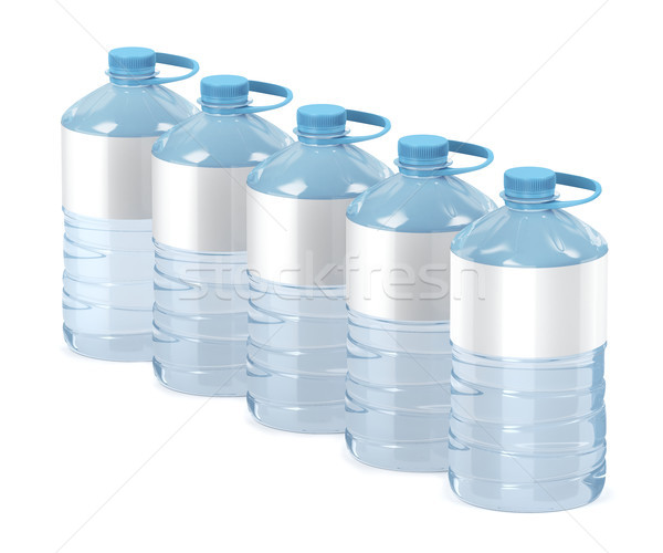 Big water bottles on white Stock photo © magraphics