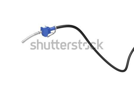 Kék benzinpumpa fúvóka izolált fehér benzin Stock fotó © magraphics