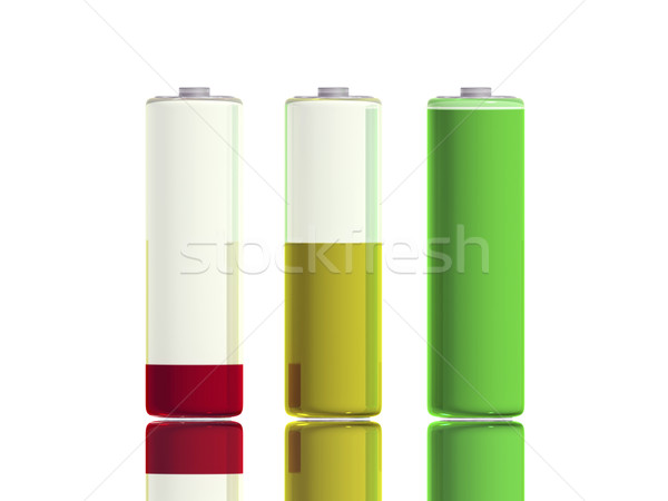 3 Batteries - front Stock photo © magraphics