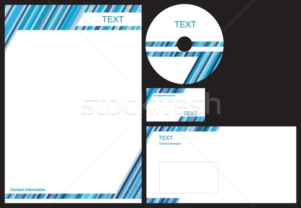 Bleu affaires Pack paquet carte de visite Photo stock © magraphics