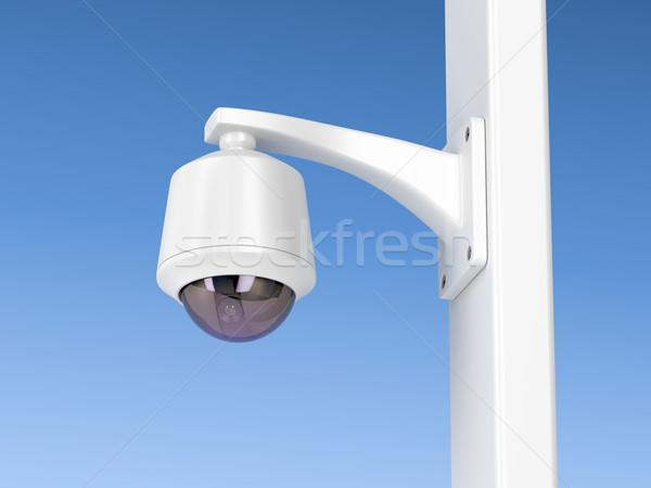 купол наблюдение камеры камеры безопасности Blue Sky видео Сток-фото © magraphics