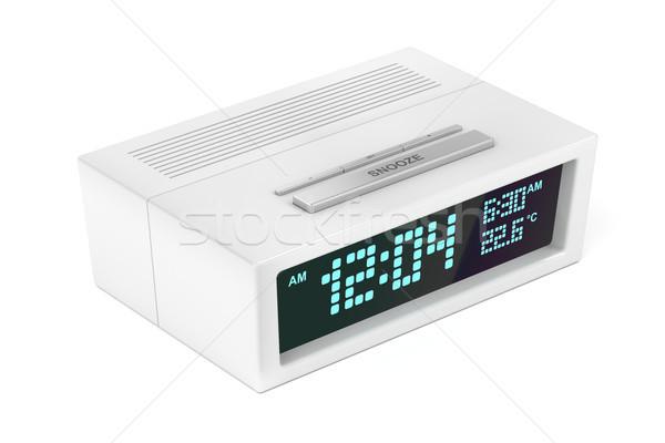 現代 目覚まし時計 デジタル 白 電子 計 ストックフォト © magraphics