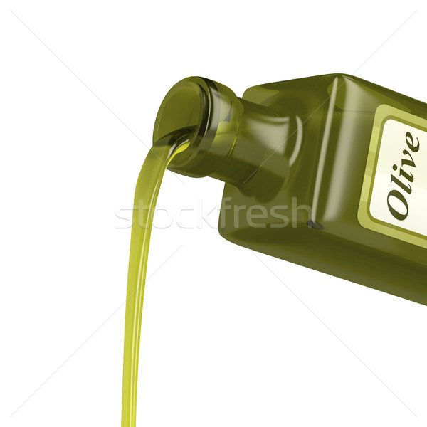 Pouring olive oil from the bottle Stock photo © magraphics