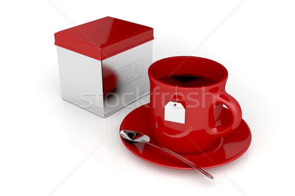 Tea cup and metal box Stock photo © magraphics