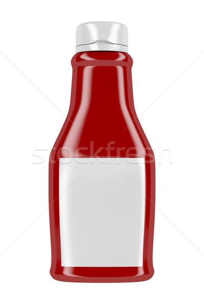 ケチャップ ボトル ラベル フロント 表示 孤立した ストックフォト © magraphics