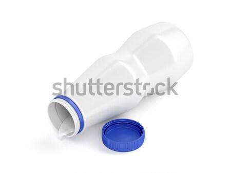 Plástico botella yogurt abierto blanco alimentos Foto stock © magraphics