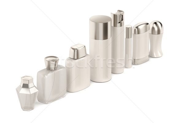 Cosmetic products on white Stock photo © magraphics