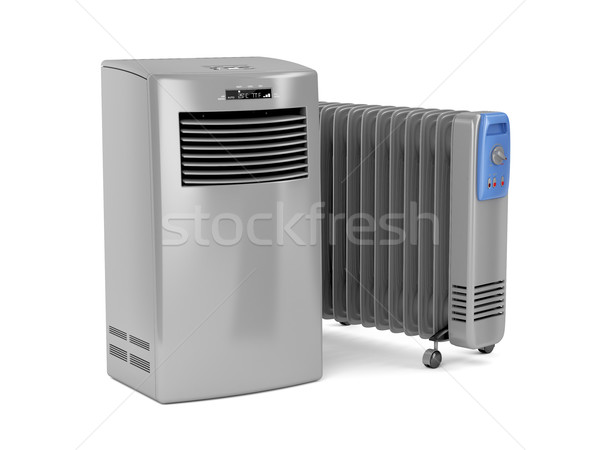 Portable air conditioner and oil-filled heater Stock photo © magraphics