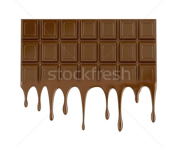 Melted chocolate bar Stock photo © magraphics