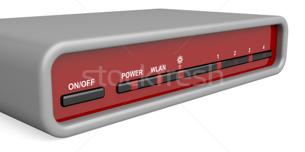 Router Vorderseite Panel Wireless Technologie Kommunikation Stock foto © magraphics
