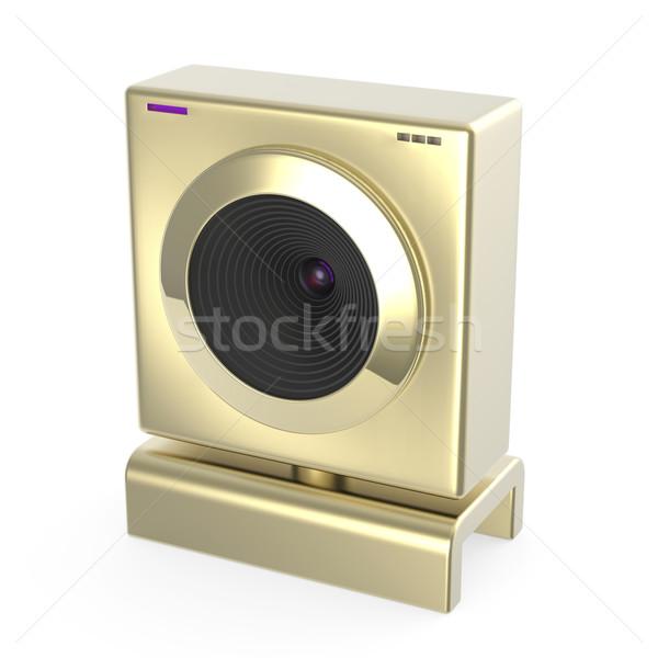 Arany web kamera luxus arany háló kamera Stock fotó © magraphics