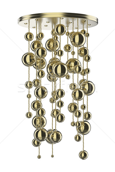 Gold chandelier Stock photo © magraphics