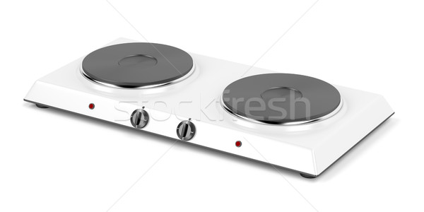 Double hot plate Stock photo © magraphics