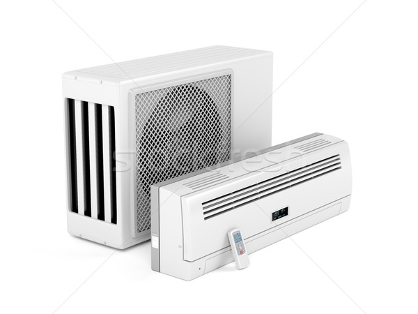 Modern split system air conditioner Stock photo © magraphics
