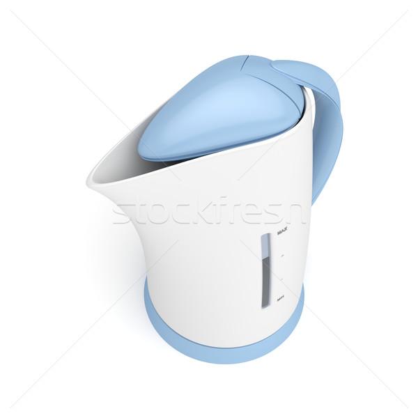 électriques bouilloire blanche cuisine chaud plastique Photo stock © magraphics