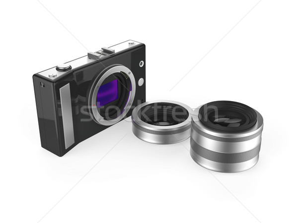 Camera and lenses Stock photo © magraphics