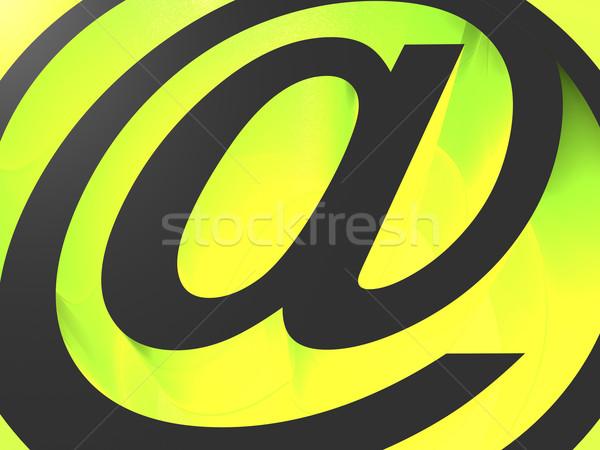 Courriel icône 3D noir vert ordinateur Photo stock © magraphics